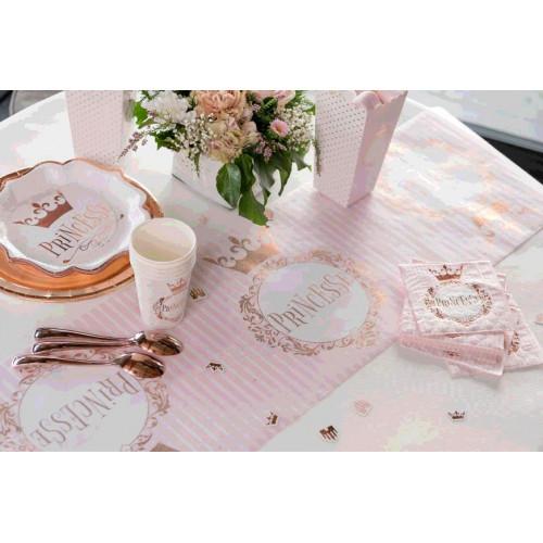 CHEMIN DE TABLE PRINCESSE METAL ROSE GOLD 3METRES