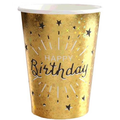 10 GOBELETS HAPPY BIRTHDAY OR