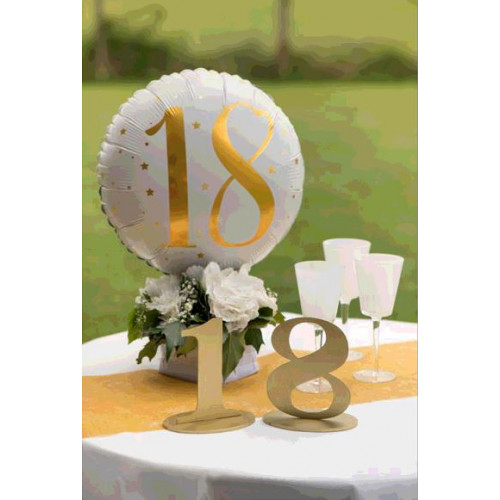 MARQUE TABLE CHIFFRE 3 METALLISE OR