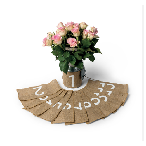 MARQUE TABLE JUTE 1 A 12 23X1