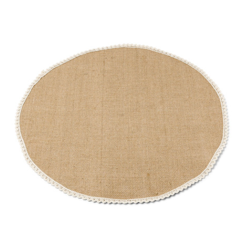 CENTRE DE TABLE JUTE ROND 50C