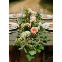 Guirlande fleurs / plumes / plantes / pétales